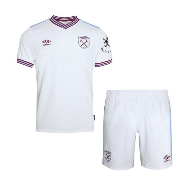 Maillot Foot West Ham United 2ª Enfant 2019-2020 Blanc